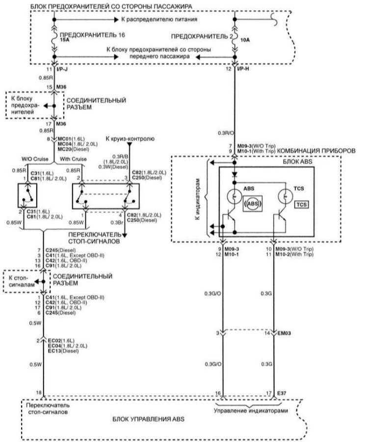 Схема электро элантра