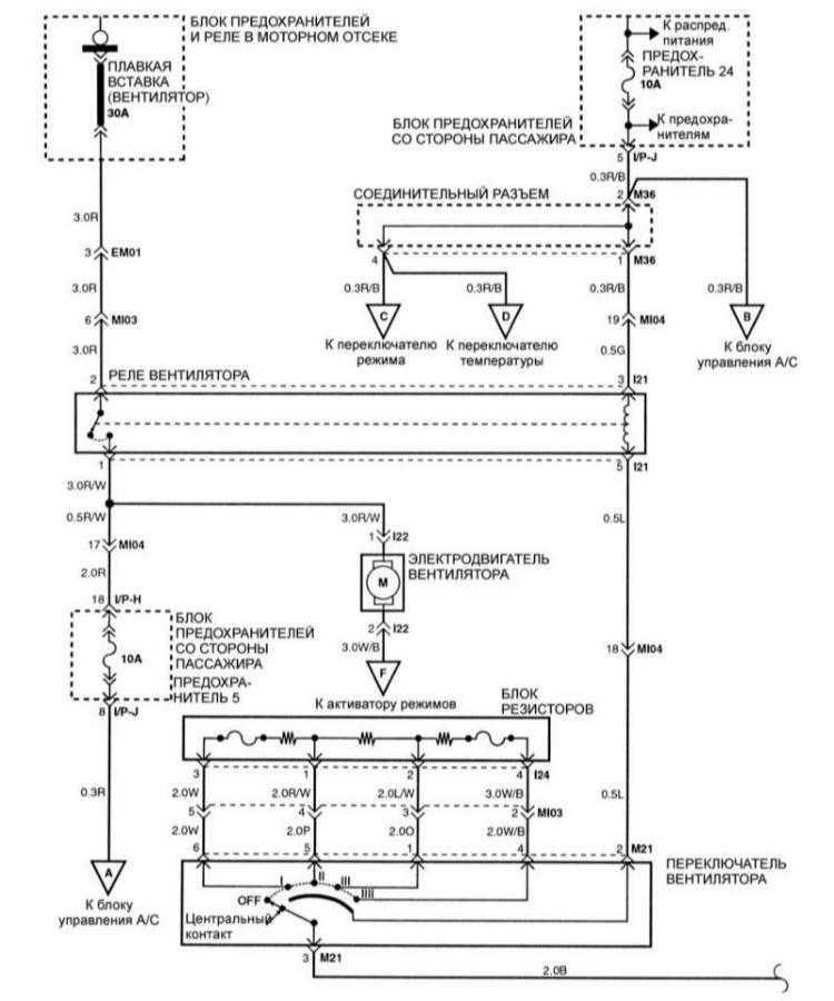 Электросхема вентиляции и